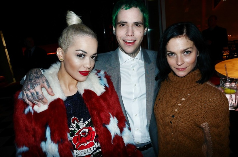 Rita Ora, Richard Hilfiger and Leigh Lezark. Photo Credit: Stêphane Feugêre