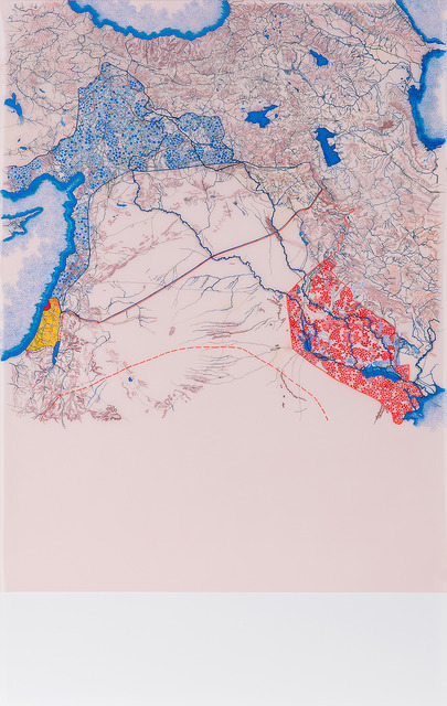 Tiffany Chung ≪Straight Line carved and shaped the region: the secret deal of the 1916 Sykes & Picot Agreement≫ 2014
