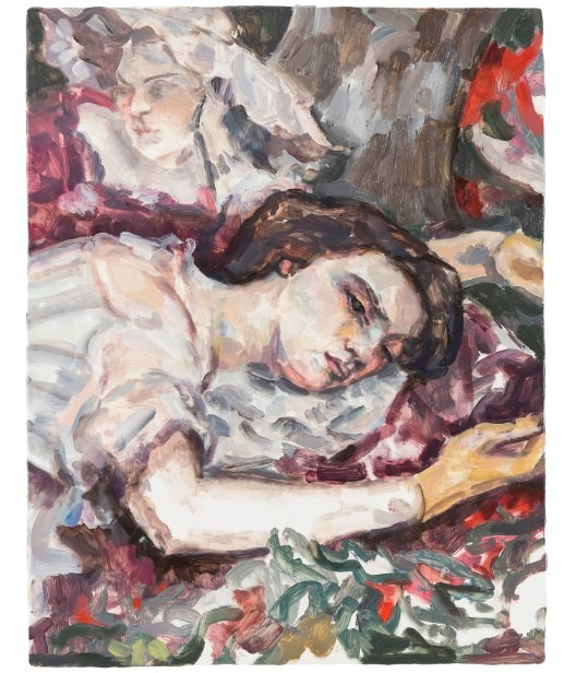 「Two women (after Courbet)」 2016 板に油彩 36.5×28.6cm © Elizabeth Peyton, courtesy Sadie Coles HQ, London; Gladstone Gallery, New York andBrussels; neugerriemschneider, Berlin