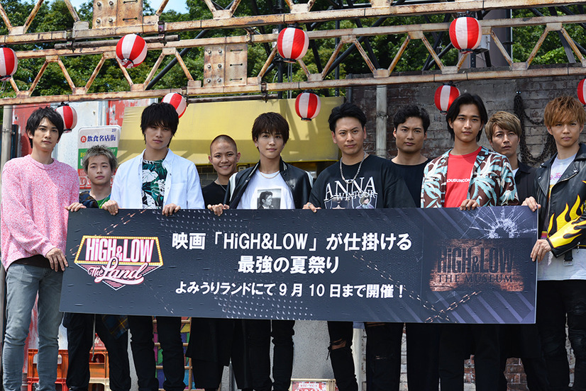 「HiGH&LOW THE LAND」、「HiGH&LOW THE MUSEUM」のプレス発表会&内覧会