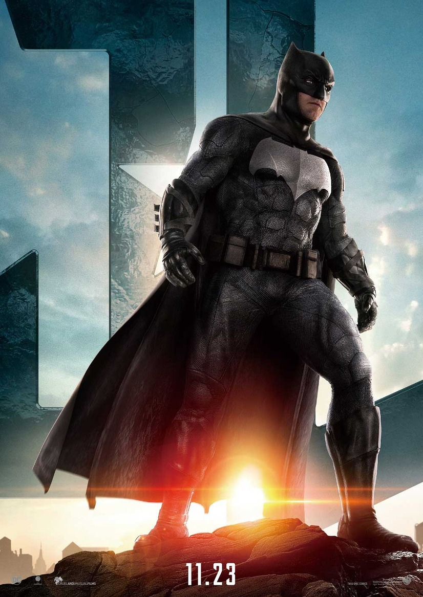 バットマン/『ジャスティス・リーグ』キャラポスター (C)2016 WARNER BROS. ENTERTAINMENT INC., RATPAC-DUNEENTERTAINMENT LLC AND RATPAC ENTERTAINMENT, LLC