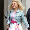 「The Carrie Diaries」(原題)撮影中のアナソフィア・ロブ -(C) Abaca USA/AFLO