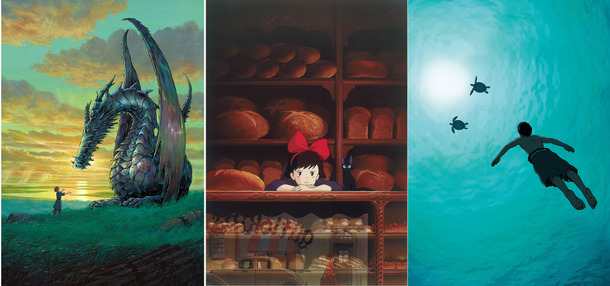 『魔女の宅急便』(c)1989 角野栄子・Studio Ghibli・N /『ゲド戦記』(c) 2006 Studio Ghibli・NDHDMT/『レッドタートル ある島の物語』(c)2016 Studio Ghibli - Wild Bunch - Why Not Productions - Arte France Cinema - CN4 Productions - Belvision - Nippon Television Network - Dentsu - Hakuhodo DYMP - Walt Disney Japan - Mitsubishi - Toho