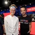 Justin Bieber and Luis Fonsi Kevin Mazur/Hand in Hand