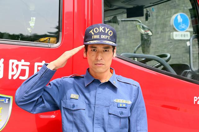 消防士のかっこいい佐藤隆太