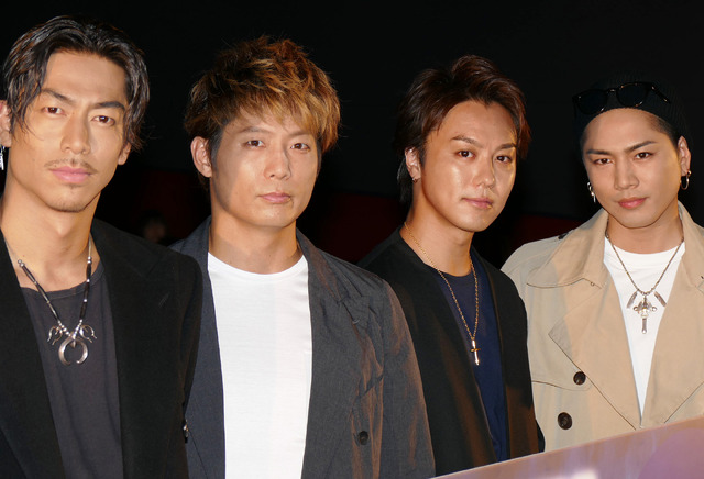TAKAHIRO&黒木啓司&AKIRA&登坂広臣/『HiGH&LOW THE MOVIE 2/END OF SKY』ヒット御礼舞台挨拶