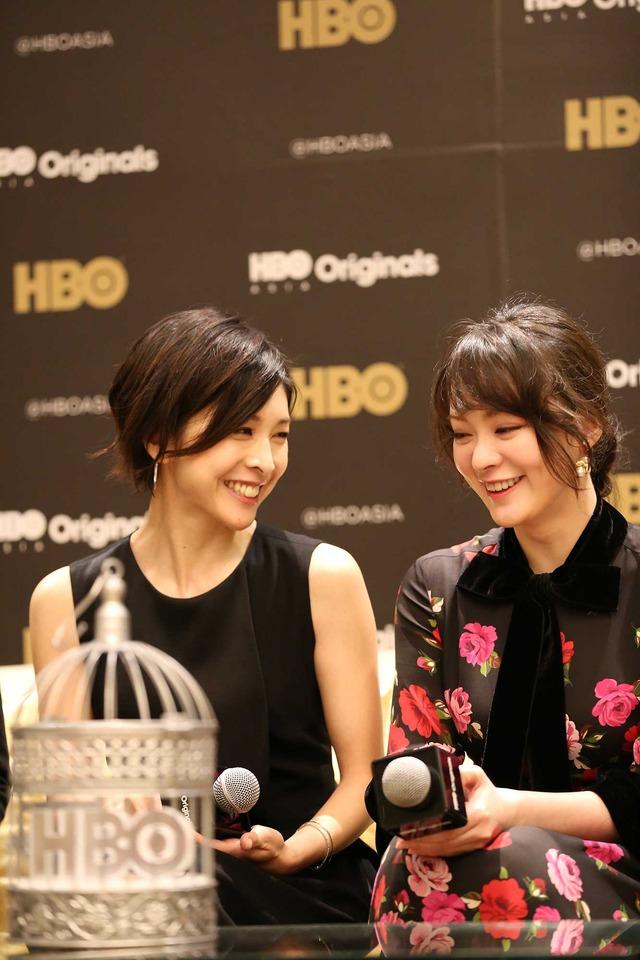 竹内結子&貫地谷しほり/HBOアジア25周年の記者会見