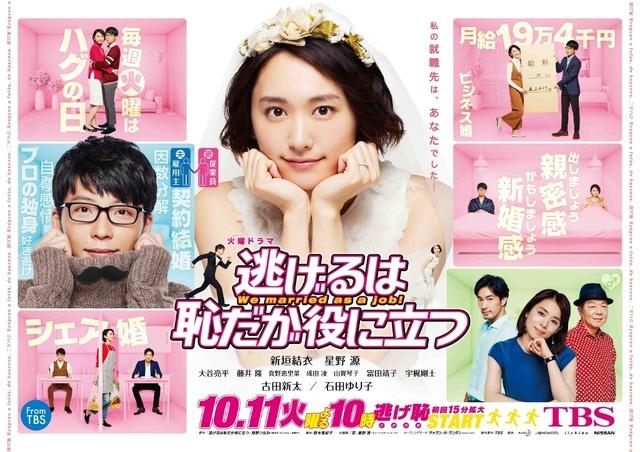 民放連賞最優秀ドラマ「逃げるは恥だが役に立つ」全話一挙放送 (c)TBS