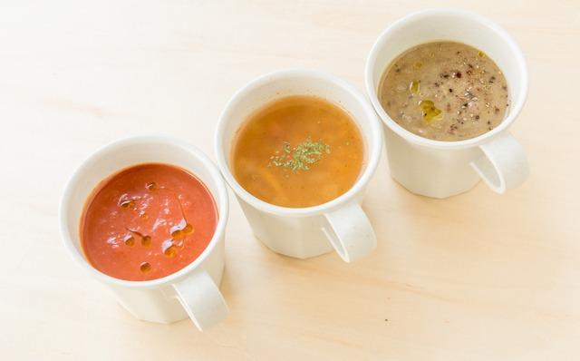 野菜を使ったスープやポタージュ(580円~)