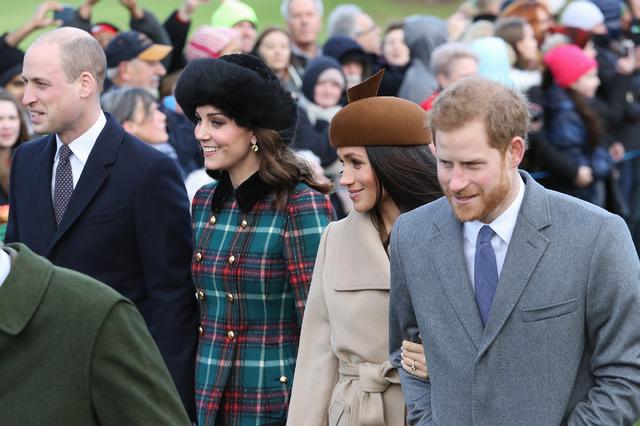 ウィリアム王子&キャサリン妃&ヘンリー王子&メーガン・マークル-(C)Getty Images