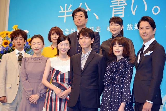 連続テレビ小説「半分、青い。」出演者発表会見