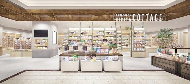 「HMV&BOOKS HIBIYA COTTAGE」店舗パース画像