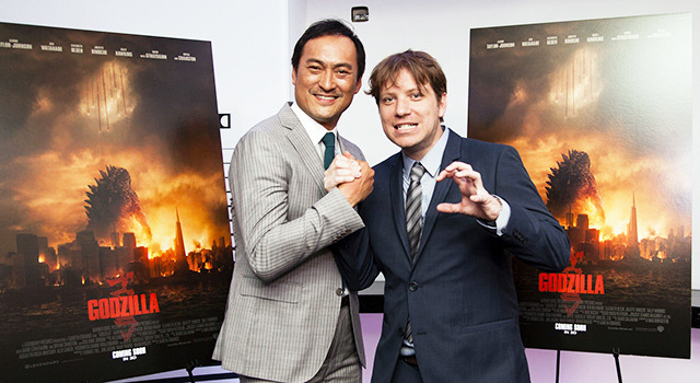 渡辺謙&ギャレス・エドワーズ監督/『GODZILLA』 -(C) 2014 WARNER BROS. ENTERTAINMENT INC. & LEGENDARY PICTURES PRODUCTIONS LLC