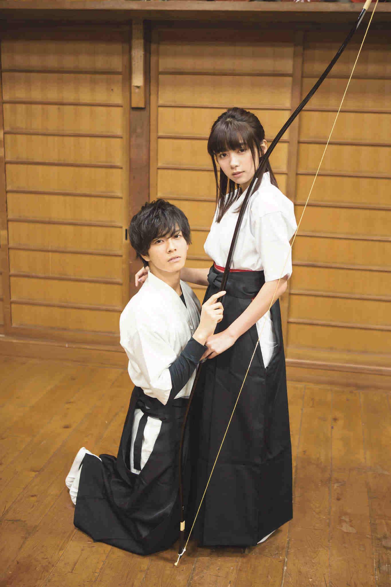 池田エライザの 弓道姿 に中尾暢樹が恋 一礼して キス 実写映画化