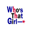 「Who's That Girl」ロゴ