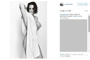 クリステン・スチュワート、世界的写真家の撮影でタオルをまとったヌードを披露