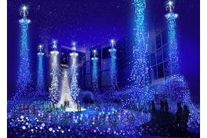 ディズニー映画『シンデレラ』、カレッタ汐留でイルミネーションショーを開催!