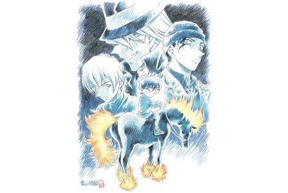 """『名探偵コナン』タイトルは""""純黒の悪夢""""に決定!描き下ろしビジュアルも公開 画像"""