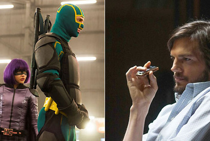 『Kick-Ass 2』 -(C) 2013 UNIVERSAL STUDIOS All Rights Reserved./『スティーブ・ジョブズ』 (C) Glen Wilson copyright The Jobs Film LLC Director Joshua Michael Stern.