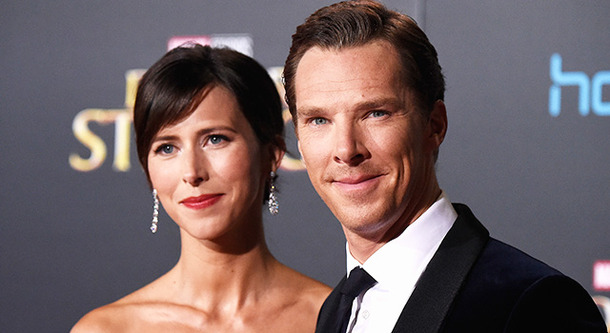 ベネディクト・カンバーバッチと妻