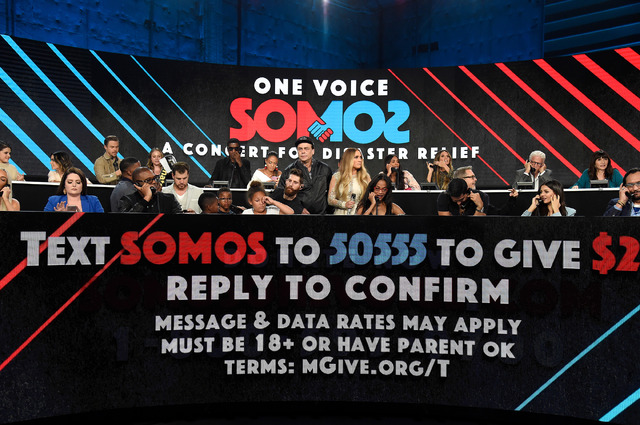 チャリティ・ライブ「One Voice: Somos Live! A Concert For Disaster Relief」-(C)Getty Images