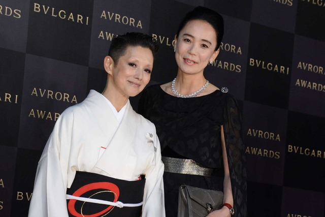 河瀬直美&夏木マリ/「BVLGARIAVRORA AWARDS 2017」ゴールデンカーペットセレモニー