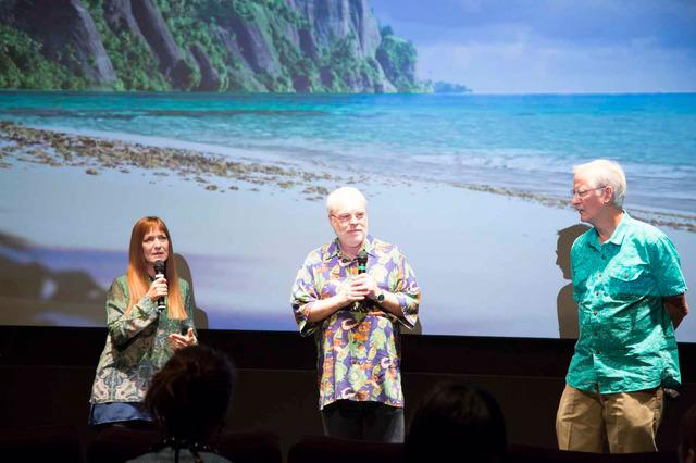 (左から)オスナット・シューラー&ロン・クレメンツ&ジョン・マスカー/『モアナと伝説の海』MovieNEX収録ボーナス映像ショーケース