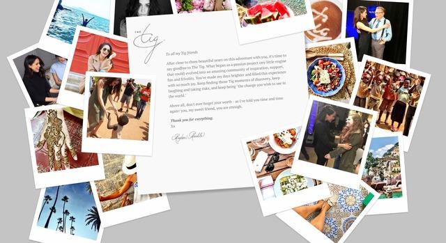 メーガン・マークルのブログ「The Tig」に掲載された「さよならメッセージ」/メーガン・マークルのブログ「The Tig」より