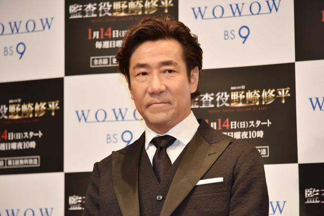 岸谷五朗/「連続ドラマW 監査役 野崎修平」第1話完成披露試写会