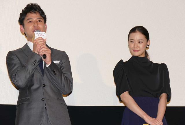 妻夫木聡&蒼井優/『妻よ薔薇のように 家族はつらいよIII』完成披露試写会