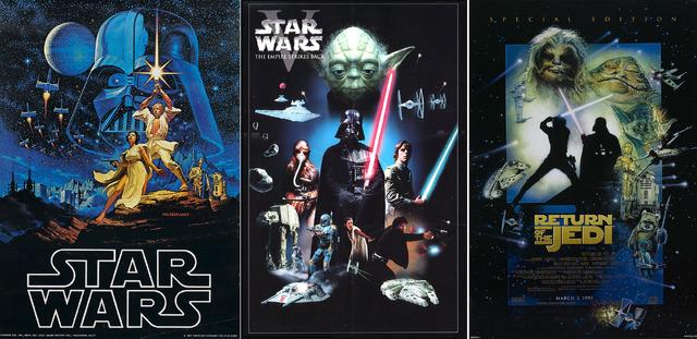 『スター・ウォーズ エピソード4/新たなる希望』『スター・ウォーズ エピソード5/帝国の逆襲』『スター・ウォーズ エピソード6/ジェダイの帰還』ポスター-(C)APOLLO