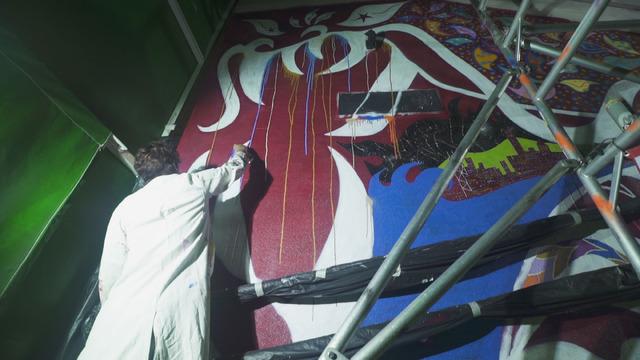 香取慎吾/香港島中環ストリート・アート作品お披露目セレモ二―