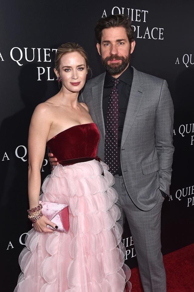 エミリー&ジョン夫妻『クワイエット・プレイス』(原題)NYプレミア (C) 2018 Paramount Pictures. All rights reserved.