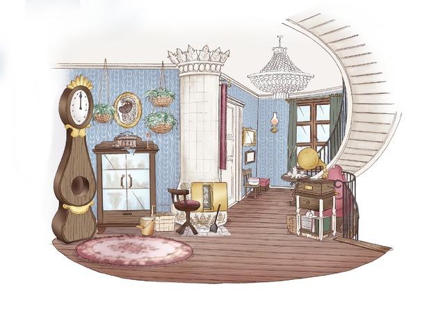 「ムーミンバレーパーク」ムーミン屋敷内観(C)Moomin Characters TM