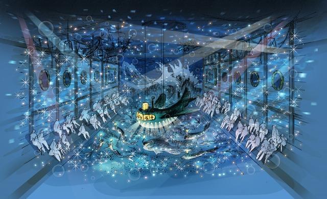 「ムーミンバレーパーク」海のオーケストラ号内観(C)Moomin Characters TM