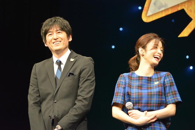 上戸彩、博多大吉/『名探偵コナン ゼロの執行人』完成披露舞台挨拶