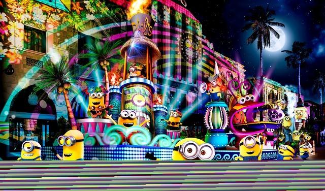 「ユニバーサル・スペクタクル・ナイトパレード ~ベスト・オブ・ハリウッド~」ミニオンズのフロート・イメージ図