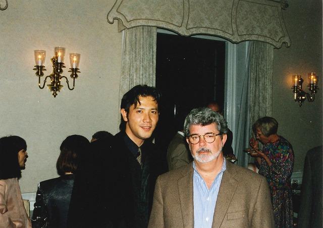 別所哲也×ジョージ・ルーカス/1999年、アメリカ大使館にて