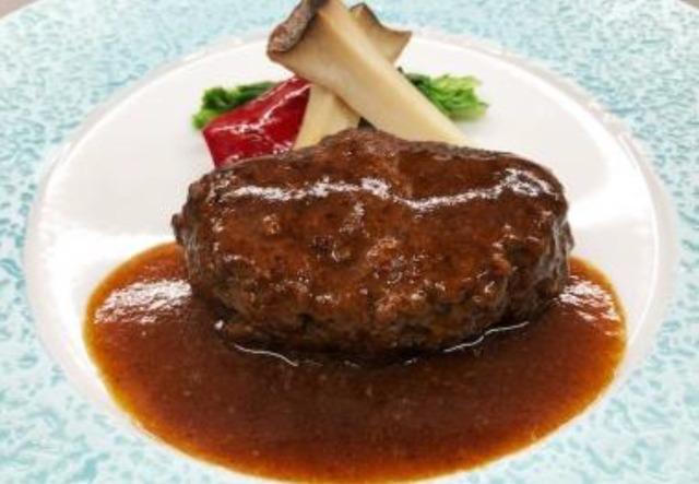 「神戸ビーフハンバーグステーキのランチコース」/11F 神戸プレジール銀座