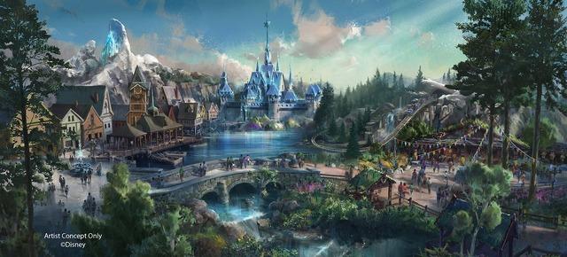 ディズニー映画『アナと雪の女王』をテーマにしたエリア