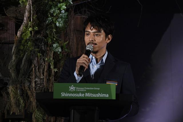 『ジュラシック・ワールド/炎の王国』緊急レポート会見、満島真之介
