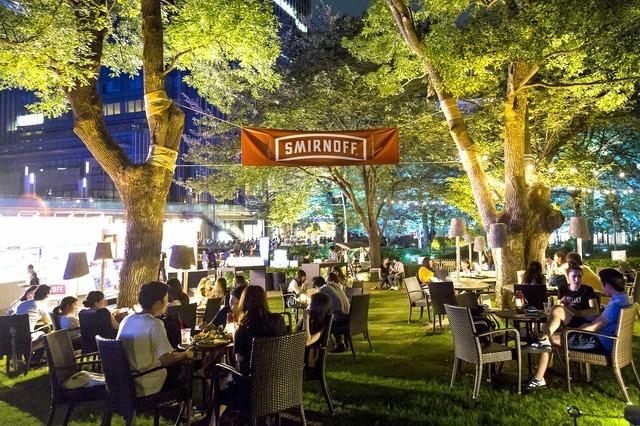 「スミノフ ミッドパーク カフェ」昨年の様子
