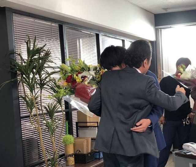 土曜ナイトドラマ「おっさんずラブ」クランクアップ (C)テレビ朝日