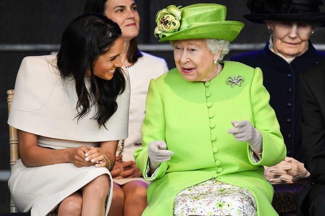 メーガン妃&エリザベス女王-(C)Getty Images
