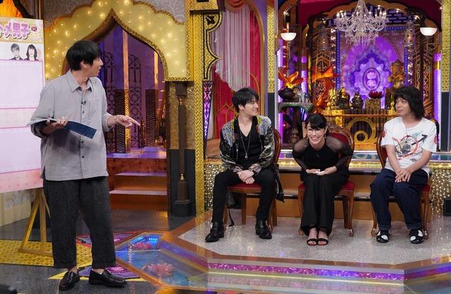 水野美紀、ジェジュン、峯田和伸、MC「チュートリアル」徳井義実「今夜くらべてみました」 (C) NTV