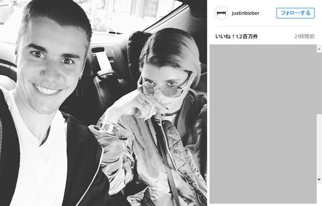 ジャスティン・ビーバー&ソフィア・リッチー-(C)Instagram