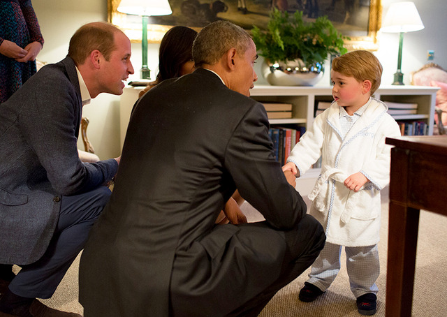 英ウィリアム王子&オバマ大統領&ジョージ王子-(C)Getty Images