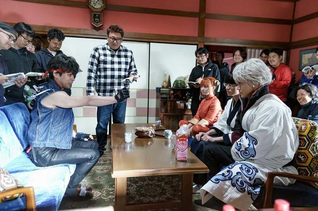『銀魂2 掟は破るためにこそある』現場取材(C)空知英秋/集英社 (C)2018 映画「銀魂2」製作委員会