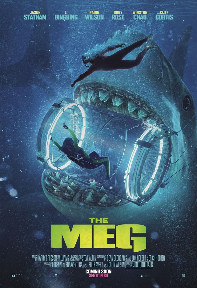 US版ポスター『MEG ザ・モンスター』(c)2018 WARNER BROS. ENTERTAINMENT INC., GRAVITY PICTURES FILM PRODUCTION COMPANY, AND APELLESENTERTAINMENT, INC