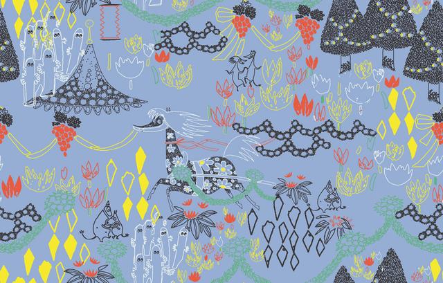 「ムーミンバレーパーク」制服テキスタイル(C) Moomin CharactersTM